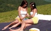 Salen de picnic y no pueden resistirse a comerse los coños